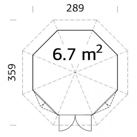 Plano Verónica 2 28 mm, 289 x 359 cm, 6.7  m²