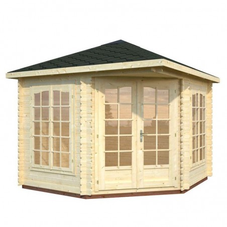 Pabellón madera Melanie 28 mm, 332 x 280 cm, 6.8 m²