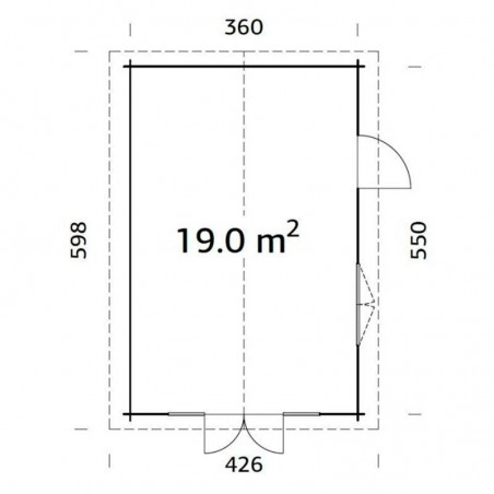 Irene, 44 mm, 380 x 570 cm, 21.66 m²