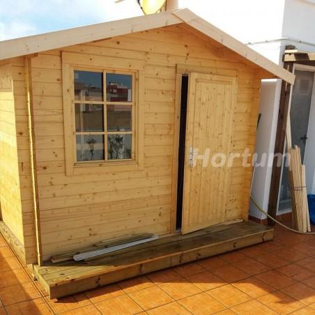 Caseta de madera para jardín Klara, 28 mm, 300 x 200 cm, 4.7 m²