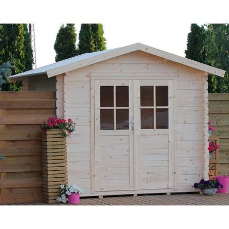 Caseta de jardín en madera - Adele Doble Puerta - Suelo incluido