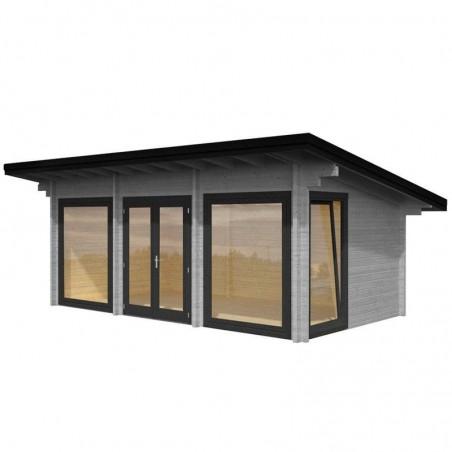 Caseta de madera para jardín Heidi, 70 mm, 640 x 360 cm.19,7 m²