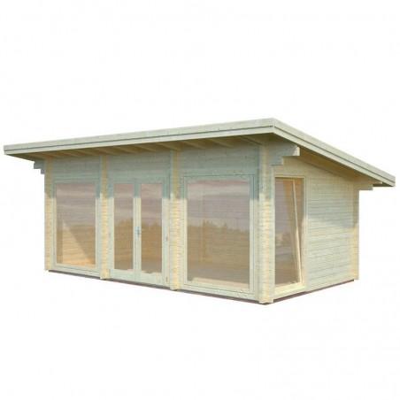 Caseta de madera Heidi - Caseta con ventanales