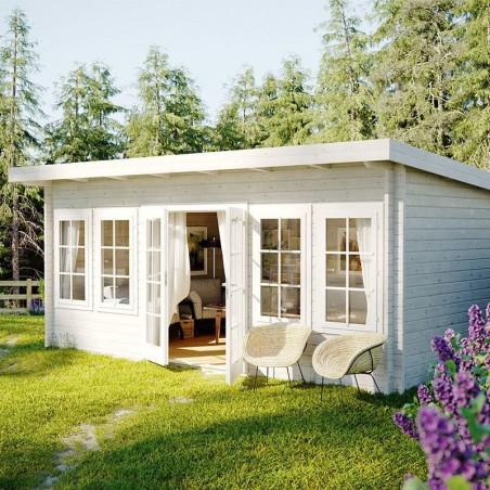 Caseta para jardín Lisa, 44 mm, 550 x 400cm. 19,4 m²