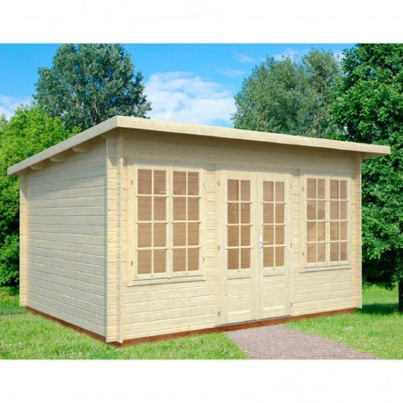 Caseta de madera para jardín Lisa, 34 mm, 420 x 320 cm