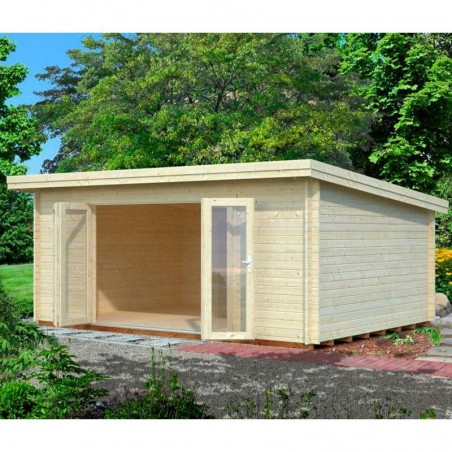 Caseta/estudio de madera Lea, 44 mm, 530 x 380 cm. 19.4m²