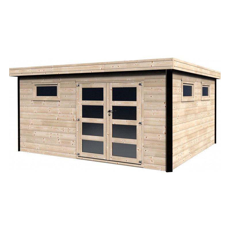 Caseta de madera Evelin - Caseta contemporánea con acabados Elite