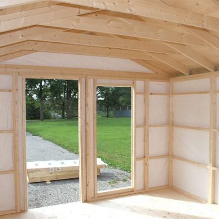 Revestimiento interior | Caseta de madera habitable Ly 13,8 m²