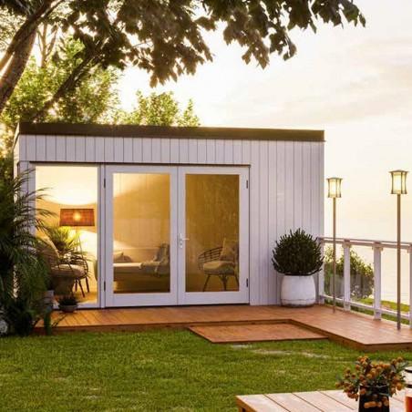 Caseta madera habitable Solveig 13,6 m². Habitación en el jardín