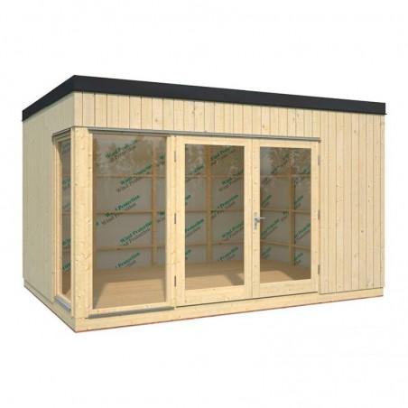 Caseta de madera de estilo nórdico Solveig 13,8 m²