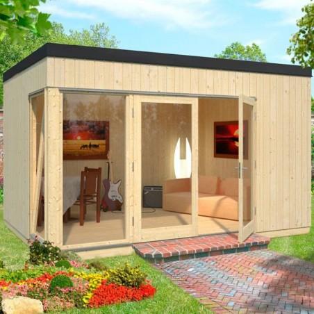 Caseta habitable para jardín. Habitación extra, fácil montaje