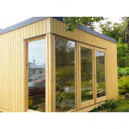 Mini casa de madera habitable Solveig 13,6 m²