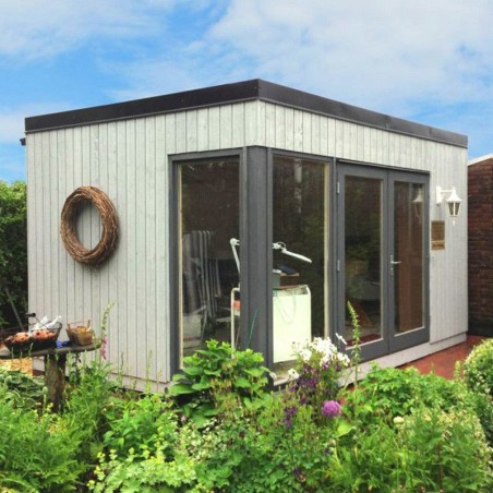 Caseta de madera habitable Solveig 13,6 m²