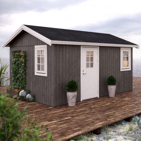 Caseta de madera habitable Hedwig  101163 13,6m²