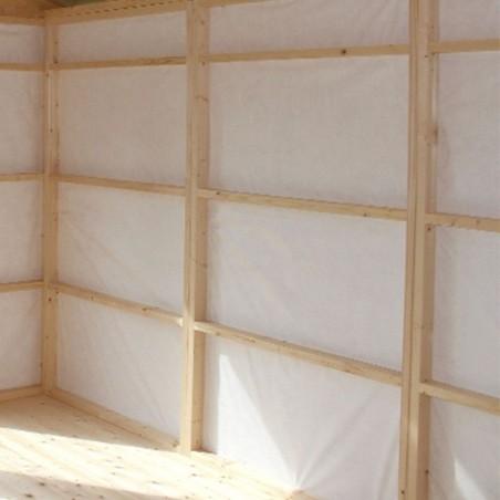 Revestimiento interior paneles de madera   Caseta habitable Annika 21,5 m²
