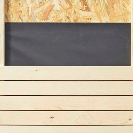 Detalle revestimiento exterior minicasa de madera - Hortum