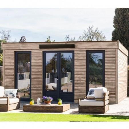 Minicasa de madera habitable 23 m²