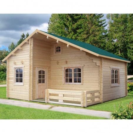 Casa de madera prefabricada Emily 40.1+5.2m²