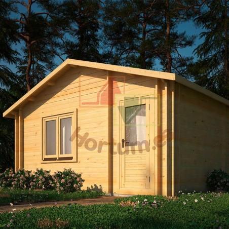 Casa de madera Onega 34+34 mm, 500x578cm, 28 m²