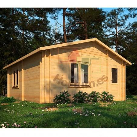 Casa de madera con doble muro Onega 34+34 mm, 500x578cm, 28m²