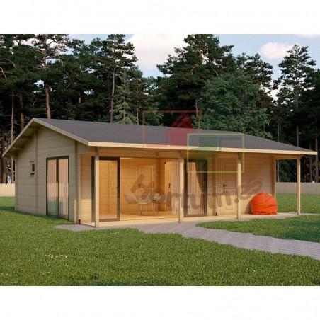 Casa madera Duero 44 mm, 800x800cm, 64 m²