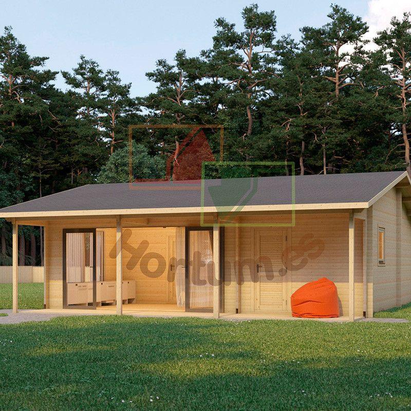 Casa de madera Duero 44 mm, 800x800cm, 64 m²