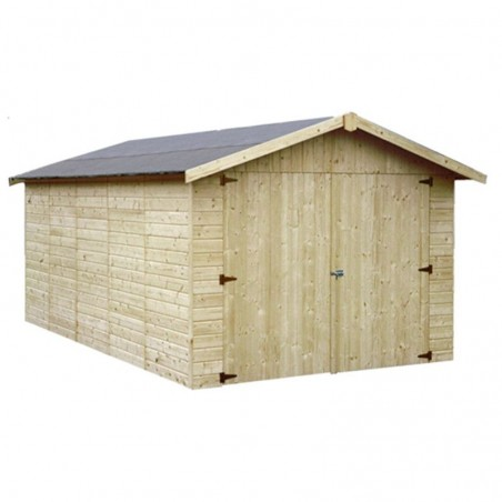 Garaje de madera Brisa. 15mm 273x460cm. 12.57m²