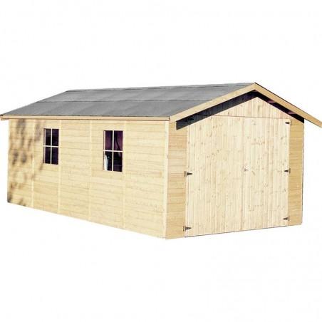 Garaje de madera Gapadan. 15mm, 300 x 500 cm. 15,51 m²