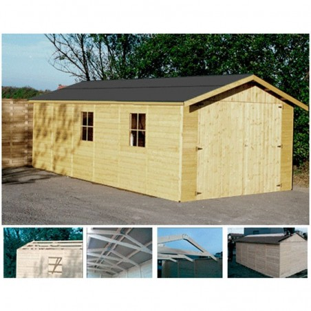 Garaje madera Gapadan 15mm, 300 x 500 cm. 15,51 m²