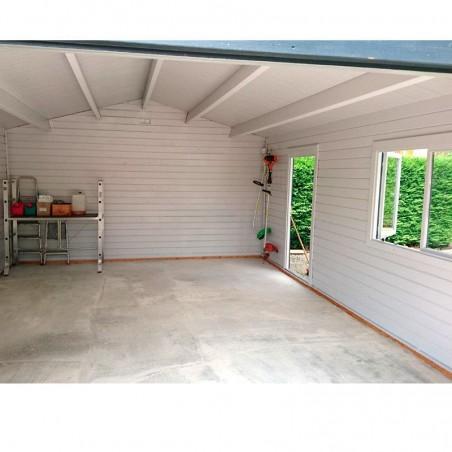 Interior Garaje de madera Roger de Palmako. Garaje de madera Mundaka