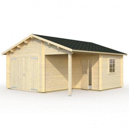 Garaje de madera Somo 530 x 570 cm, 30.21 m²