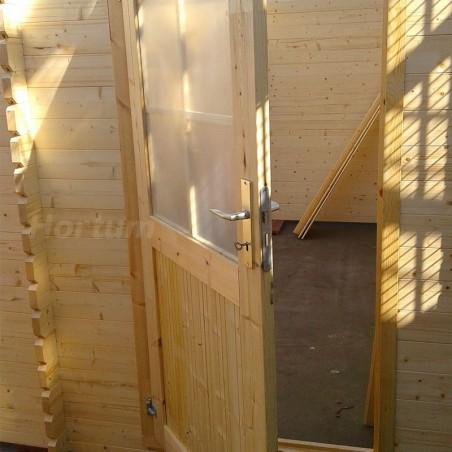 Puerta simple garaje de madera prefabricado