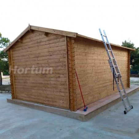 Garaje de madera garaje Tony, 34mm, 350 x 520 cm, 17.50m²