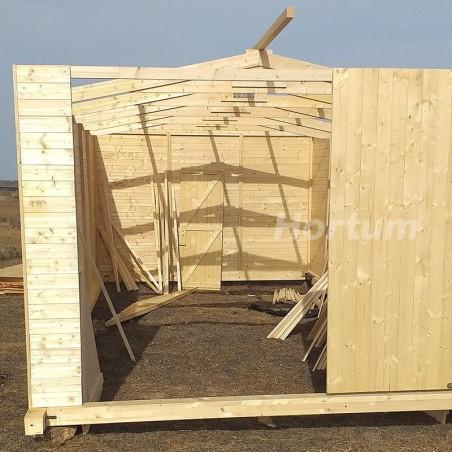 Montaje Garaje de madera Mikhail II, 19 mm, 300x600 cm, 18m²