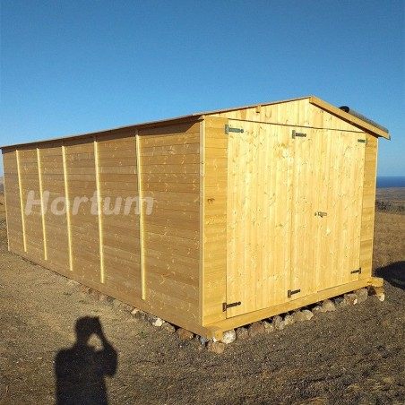 Garaje de madera Mikhail II, 19 mm, 300x600 cm, 18m²