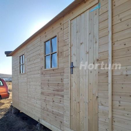 Lateral garaje de madera Mikhail II, 19 mm, 300x600 cm, 18m²