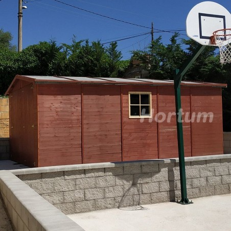Garaje de madera Mikhail I.19 mm. 300 x 500 cm. 15 m²