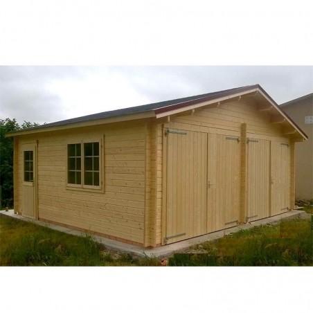 Garaje de madera Peniche 595 x 530 cm, 31.53 m²
