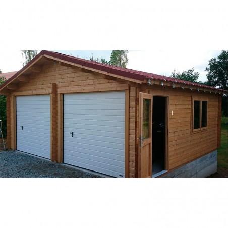 Garaje de madera Peniche 595 x 530 cm, 31.53 m² con puertas basculantes