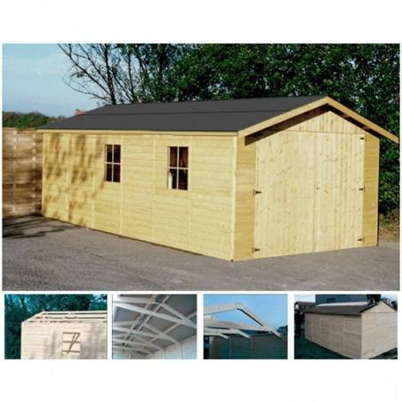 Garaje prefabricado Gapale. 15mm, 300 x 600 cm. 18.27 m²
