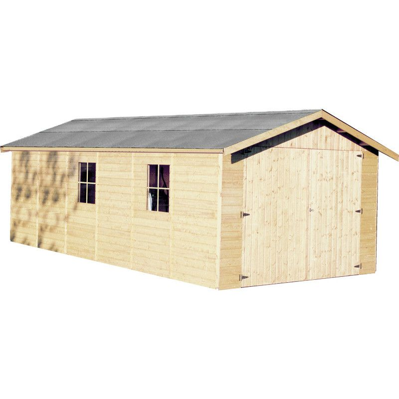 Garaje de madera Gapale. 15mm, 300 x 600 cm. 18.27 m²