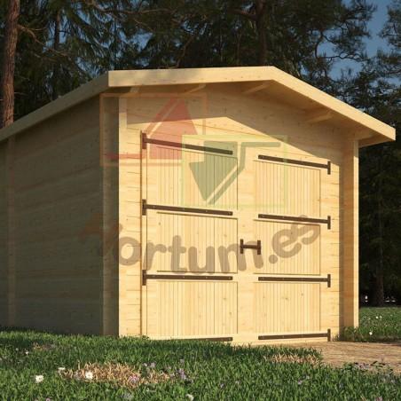 Garaje madera Sella 44mm, 350x500cm, 17m²