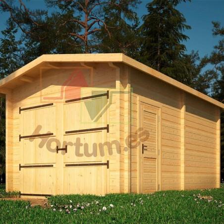 Garaje madera Sella 34/44mm, 350x500cm, 17m²