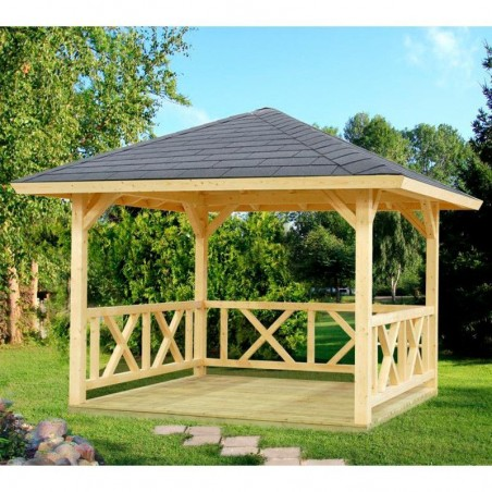Cenador madera pérgola Betty, 9.0 m²