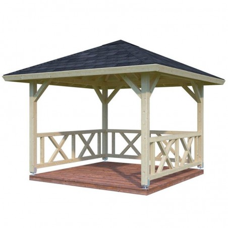 Pérgola de madera 4 aguas Betty, 9.0 m²
