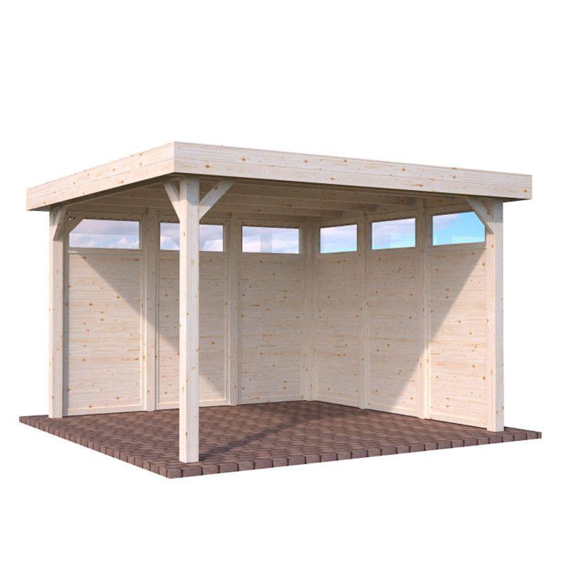 Pérgola de madera Lucy 349 x 349 cm. 12.2 m² con paneles