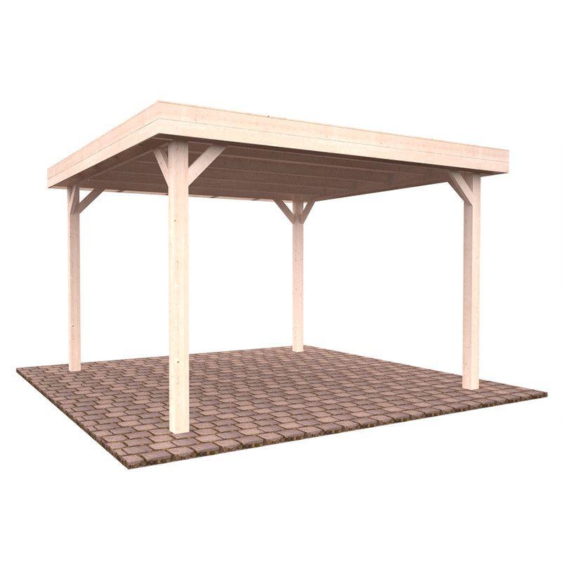 Pérgola de madera techada Lucy 349 x 349 cm. 12.2 m²