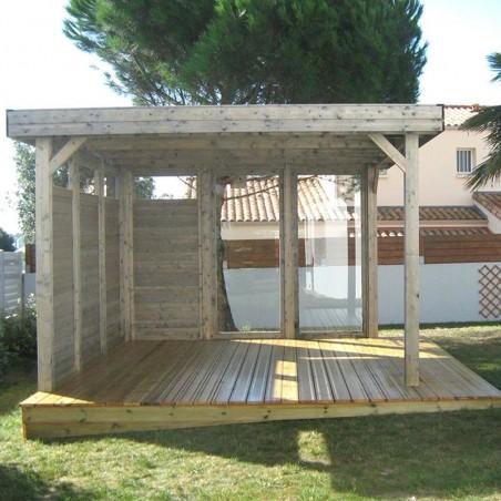 Pérgola de madera con paneles Lucy - Palmako