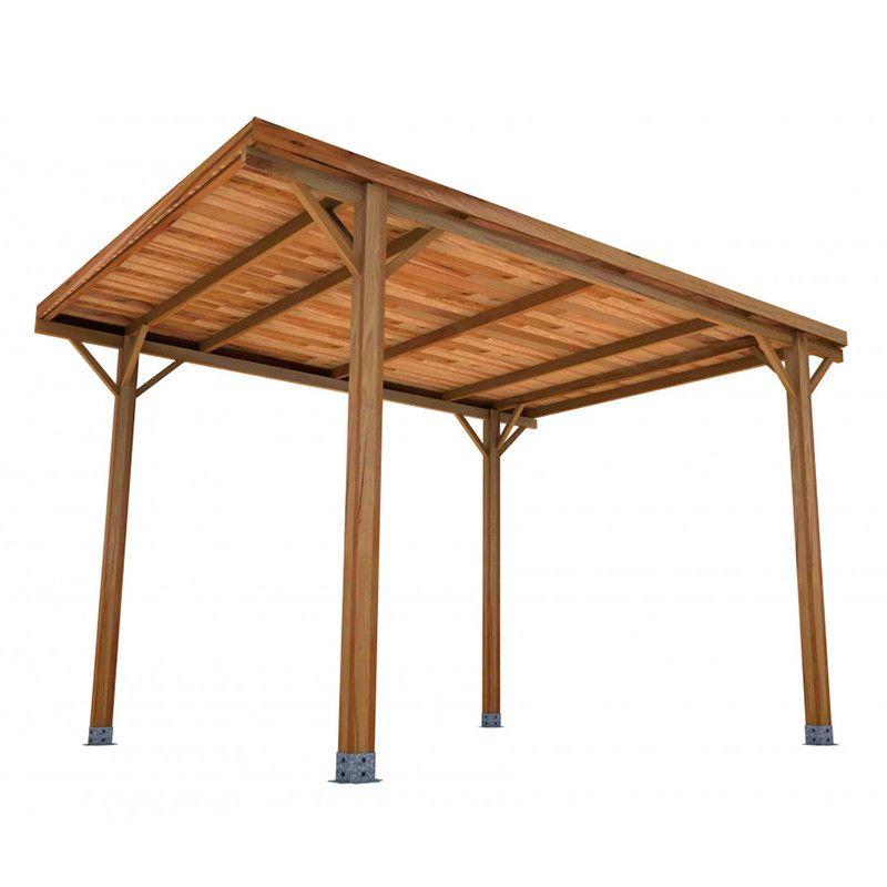 Pérgola de madera techada 400x300cm. Postes 10x10cm