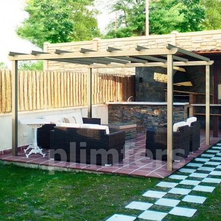 Pérgola de madera Salamanca | Varias Medidas | Postes 9,5x9,5cm